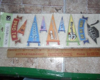 Peter H9 Piece of Just Graduation Congratulation themed Chipboard and a loose 6 3/4 yard length of  Shimmery Red cording