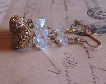 REpurposed Vintage Crystal Earrings