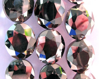 Chinese Crystal Bronze Black Oval Faceted Beads 2 sizes