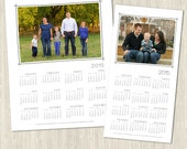 2015 Clean White Yearly Calendar Set - 8x10 and 5x10 - Photoshop Templates for Photographers - Client Gifts - EC8029