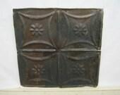 Antique TIN Ceiling Tile 12x12  BURNISHED Art Tile S2169-14