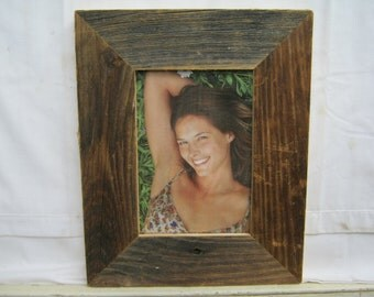 Salvaged Recycled 5x7 Wood Photo Picture Frame S2268-14