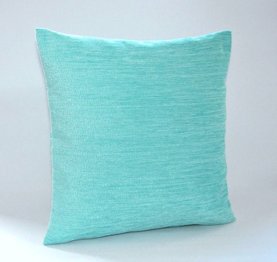Light Blue Throw Pillow Covers : light blue chenille cushion cover accent decorative pillow