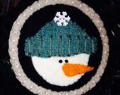 Wool Snowman Ornament