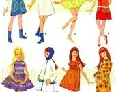 "Vintage 9"" Doll Clothes Pattern Fits Skipper, Pepper Dolls 8357"