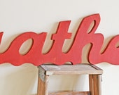Gather Sign, Large Wood Wall Sign, Typography Word Art, Big Sign, Typography Word Art, Kitchen Decor Art