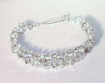 Swarovski Crystal Jewelry - Silver Shadow Crystal Bracelet - Any Color
