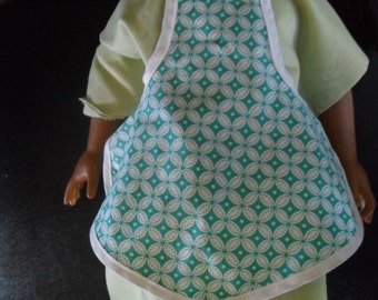 2 aprons that fit American Girl Doll Clothes 2 Aprons fit Gotz or Cabbage Patch Dolls or any similar doll size