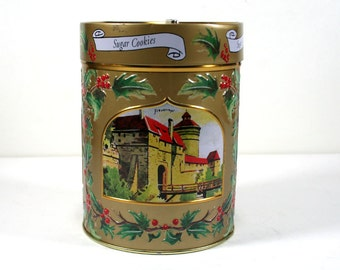 "Vintage German Cookie Tin / Music Box, ""Have Yourself a Merry Little Christmas"" -  Perfect for Holiday Gift Giving"