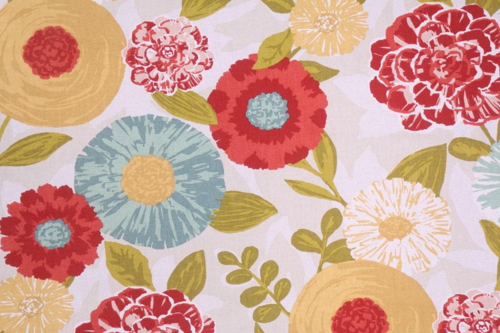 Red Floral Curtains Air Media Design