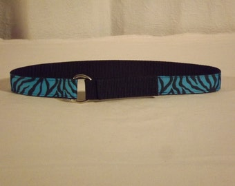 Blue Tiger Toddler Belt