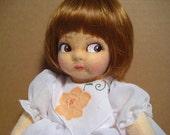 """Pressed Felt 11"""" doll with side glancing eyes"""