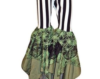 Ruffle Pants Striped Bellydance Tribal Fusion Dance Pants Handmade