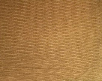 ORGANIC Cotton Duck Canvas Fabric Carhartt Brown British Tan Carmel For Apparel Home Decor Crafts