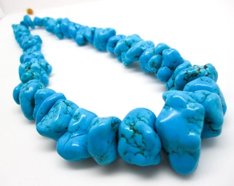 Turquoise Beads, Blue Turquoise Nuggets, Chunky Turquoise, SKU 4347A