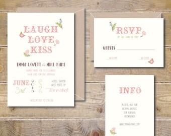Vintage Wedding Invitations, Vintage Wedding Invites, Vintage Invitations, Wedding Invitation, Floral Wedding Invitation - Vintage Garden