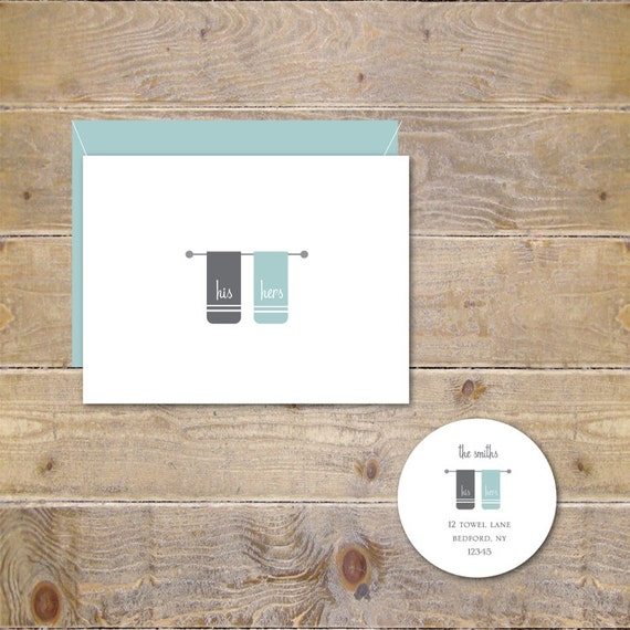 Wedding Thank You Cards . Personalized Wedding Thank You Cards . Thank You Cards . Thank You Set - His and Hers