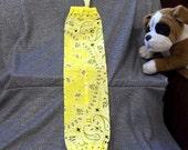 Plastic Bag Holder Sock, Highlighter Yellow Print