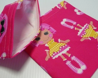 2pc  Reusable Sandwich and Snack Bag Lalaloopsy