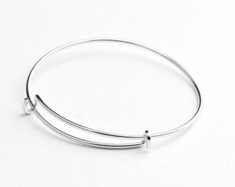 Expandable Charm Bracelet , Silver , 6 ea C1027N