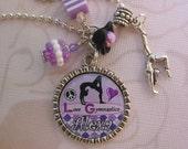 Personalized I love Gymnastics pendant