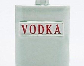 Handmade porcelain Vodka flask