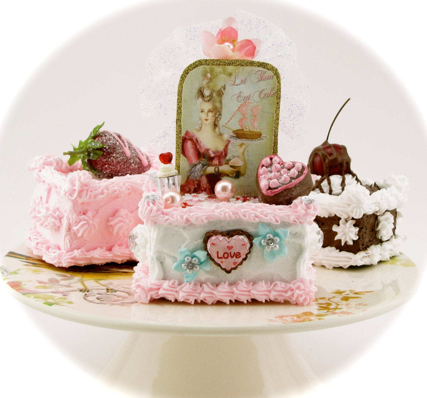 marie antoinette fake petit four collection set of 3 petit
