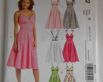 Easy Sun Dress Pattern McCalls M5292 Size 12 14 16 18 Bust 34 36 38 40 UNCUT