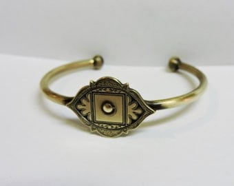 Antique Brass Arabian Cuff Bracelet