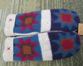 Patchwork Star Wool Sweater Mittens