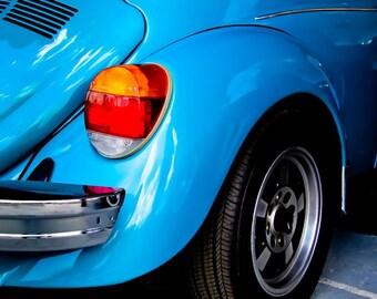 1979 Volkswagen Super Beetle Car Photography, Automotive, Auto Dealer, Muscle, Sports Car, Mechanic, VW, Boys Room, Garage, Dealership Art