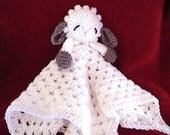 Crochet PATTERN, Little Baby Lamb Cuddle Blanket, Lovey Blankie, Snuggle Blanket, pattern # 763