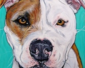 "6"" x 6"" Custom Pet Portrait on Canvas Dog Painting Cat Painting"