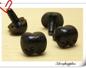 18mm Safety Noses Doll Noses Toy Noses Amigurumi noses- black - 16 pcs EA62