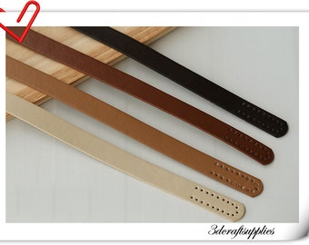 a pair of 55cm x 1.8cm Pu leather handles sew one purse handles for bag in 4 colors