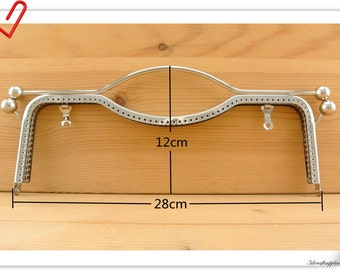 28cm  (11 inch )  Big size nickel sew on purse frame with handle Z88