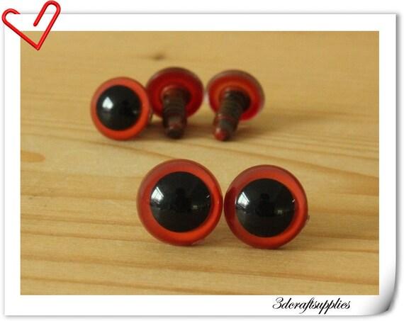 12 mm Red Safety eye amigurumi eye doll eyes cat eye 16 pieces