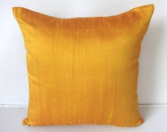 STOCK CLEARANCE 40% OFF-Golden Yellow cushion cover and throw pillow 18 inch- 1 in stock