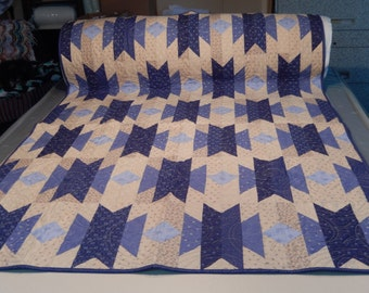 Blue Indigo Cotton Throw