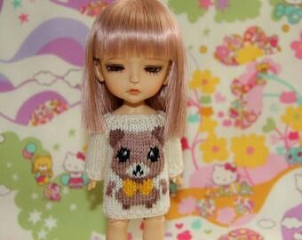 SALE - Lati Yellow PukiFee - Cute TEDDY Sweater - Cream-Brown - Limited