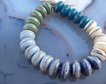 Handmade Lampwork Donut Beads by Tamara Ashlock