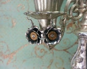 Amy Sterling Plated Rose 357 Sig Bullet Jewelry Bullet Earrings Lilly B Haven Original