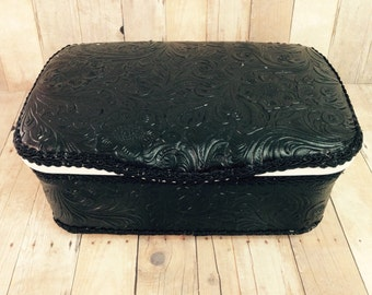 Black Leather baby wipes box leather nursery wipes case bohemian baby decor boho baby nursey decor