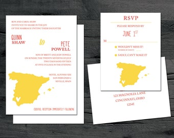 Spain Invitation Set - Spain Destination Wedding - Seville, Madrid, Marbella and more