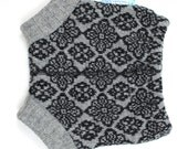"WOOL SOAKER - Wool Diaper Cover - ""Damask"" - Small 0-9m"