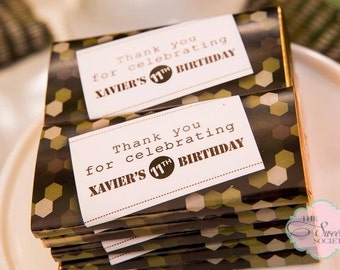 ARMY CAMO Printable Candy Wrappers