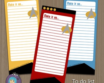 Star Trek Note Paper - To Do List