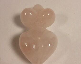 Rose quartz stone goddess (fertility)