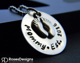 Personalized Mommy Est. Necklace, Mommy Necklace, Future Mom, Mommy since, Mommy to be, Personalized Jewelry