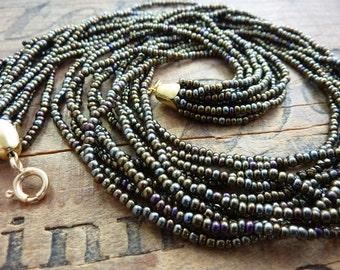 Sead Bead Supply Vintage Brown Iris Size 10 Seed Beads SB1046